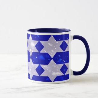 Festliche Chanukka-Kaffee-Tasse mit Davidsstern Tasse