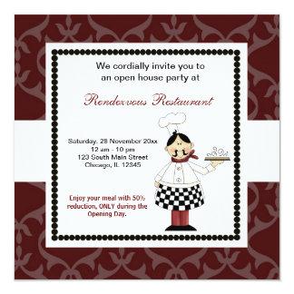 Festliche Eröffnung Quadratische 13,3 Cm Einladungskarte
