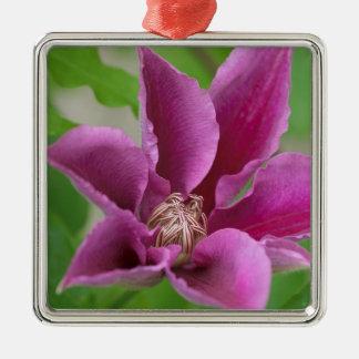 Festliche Eröffnung Quadratisches Silberfarbenes Ornament