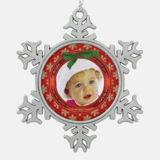 Festliche Feiertags-Foto-Schneeflocke-Verzierung Schneeflocken Zinn-Ornament