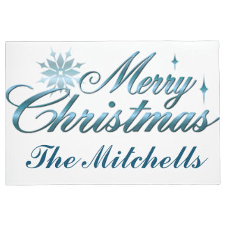 Festliche frohe Weihnachten Türmatte