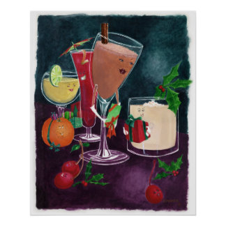 Festliche Getränke Poster