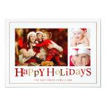 Festliche glückliche Bild-Foto-Karte der Feiertags Einladungskarten