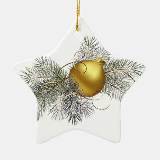 Festliche Golddekoration Keramik Ornament