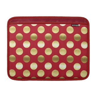 Festliche Goldfolien-Tupfen rot Sleeve Fürs MacBook Air
