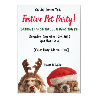 Festliche Haustier-Party Einladungen