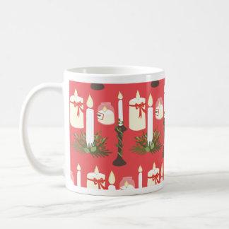 Festliche Kerzen drucken Rot Kaffeetasse
