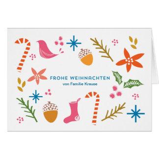 Festliche kritzelt frohe Weihnachten Karten