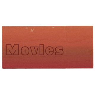 Festliche kundenspezifische Weihnachtsbänder und Holz USB Stick