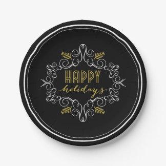 Festliche Laub-Deko-glückliche Pappteller
