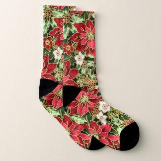 Festliche Poinsetta Muster Socken