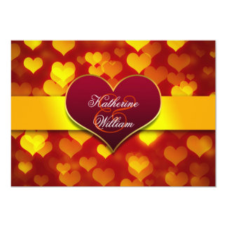 festliche rote Herz-Verlobungs-Party Einladungen