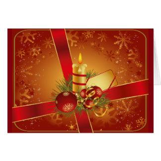 Festliche Rote Weihnachtskarte Karte