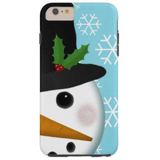 Festliche Schneemann-Feiertag iPhone 6 Plusfall Tough iPhone 6 Plus Hülle