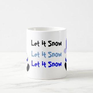 Festliche Schneemänner Kaffeetasse