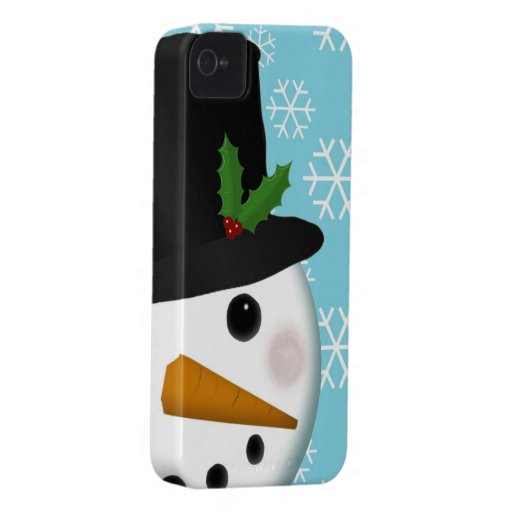 Festliche Snowman-Feiertags-Case-Mate für iPhone 4 iPhone 4 Hülle
