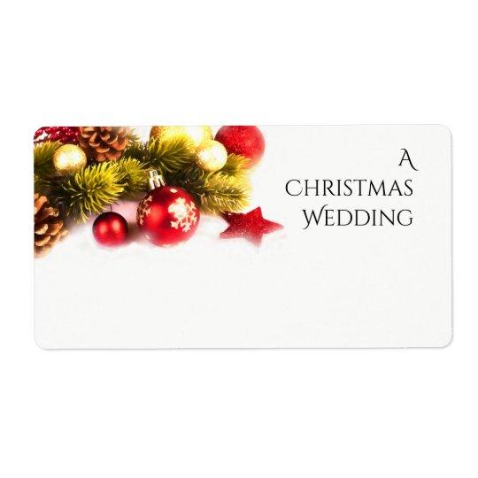 Festliche Weihnachtsfeiertags-Hochzeits-Aufkleber Großer Adressaufkleber