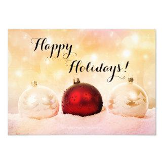 Festliche Weihnachtsfeiertags-Party Einladung