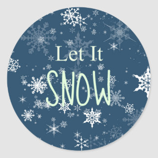 Festliche Winter-Schneeflocken ließen es schneien Runder Aufkleber