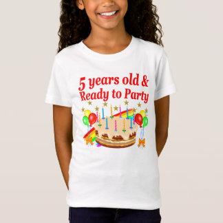 FESTLICHER 5. GEBURTSTAGS-UND 5-jährig-ENTWURF T-Shirt