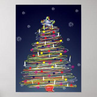 Festlicher bunter Weihnachtsbaum (fertigen Sie Poster