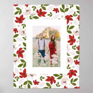 Festlicher Feiertag mit Blumen im Weiß Poster