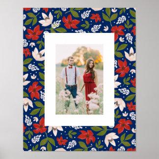 Festlicher Feiertag mit Blumen Poster