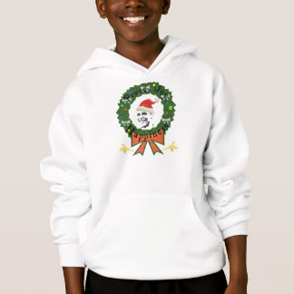 Festlicher Feiertag Obama scherzt mit Kapuze Hoodie