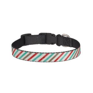 Festlicher gestreifter Weihnachtskragen Hundehalsbänder