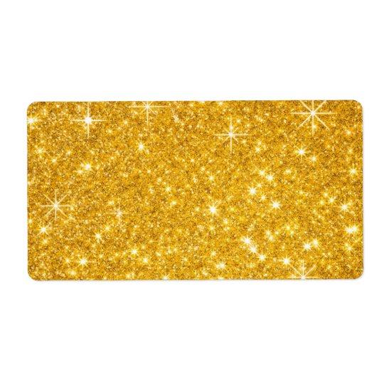 festlicher GoldGlitter Versandetikett