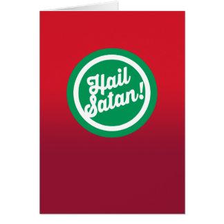 Festlicher Hagel Satan Grußkarte
