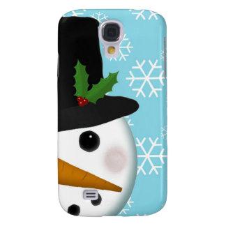 Festlicher Kasten der Schneemann-Feiertags-Galaxie Galaxy S4 Hülle