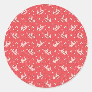 Festlicher Rahmen-Kreis-Aufkleber Runder Aufkleber