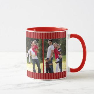 Festlicher roter Foto-Gedächtnis-Rahmen Tasse