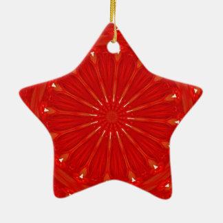 Festlicher schicker heller roter keramik ornament