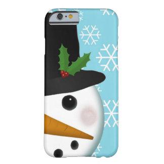 Festlicher Schneemann-Feiertag für iPhone 6 Fall Barely There iPhone 6 Hülle
