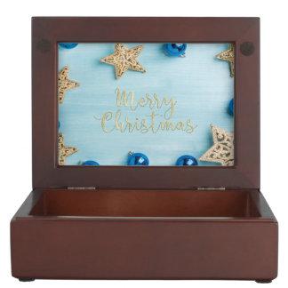Festlicher Stern-Flitter-frohe Weihnacht-Glitter Erinnerungsdose