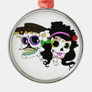 Festlicher Tag der toten Kunst Silbernes Ornament