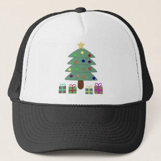 Festlicher Weihnachtsbaum Truckerkappe