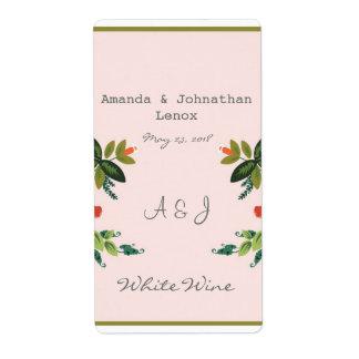 Festliches Blumen - Baby-Rosa + Olivgrün/apfelgrün Versand Aufkleber