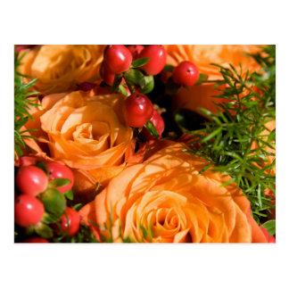 Festliches Blumen Postkarte