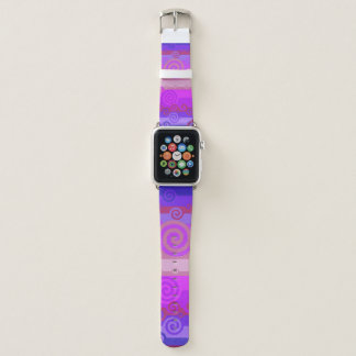 Festliches buntes Wirbels-Apple-Uhrenarmband Apple Watch Armband