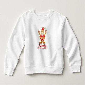 Festliches Cartoon-Sankt-Lebkuchen-Plätzchen Sweatshirt