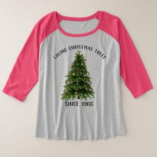 Festliches Feiertags-Shirt-liebevolle Große Größe Raglan T-Shirt