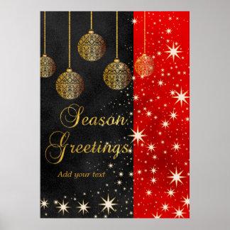 Festliches Feiertags-Weihnachten Poster