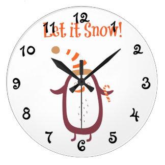 Festliches gelassen ihm schneien große wanduhr