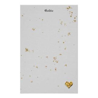 Festliches goldenes Plätzchen Briefpapier