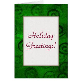 Festliches Grün windt sich Weihnachtskarte Karten