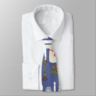 Festliches Kerzen-Druck-Blau Bedruckte Krawatten