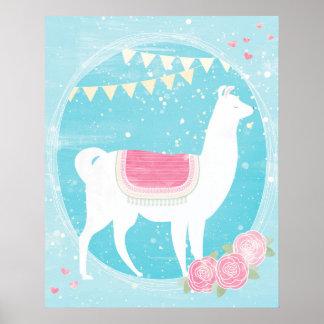 Festliches Lama Poster